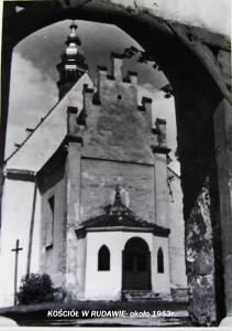 Kościół w Rudawie ok. 1953r